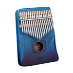 17 Keys Gradient Branch Kalimba Mahogany Wood Thumb Finger Piano (Blue)