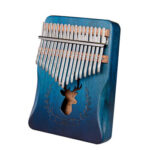17 Keys Deer Design Kalimba Musical Instrument Acacia Thumb Piano (Blue)