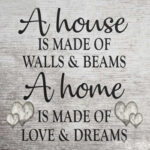 Home Proverb Canvas Painting Letter Wall Posters Print Picture Art Decor