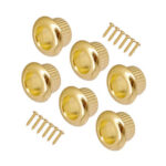 6pcs Vintage Type Guitar String Tuners Metal Casing for LP EPI (Gold)