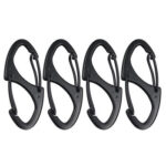 4x Alloy S Type Carabiner Keychain 8 Ring Quick Release Clip Hanging Buckle