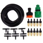 Outdoor Garden Misting Cooling System Fitting 4/7mm Hose 10pcs Nozzles Kit