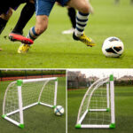 47x32x24 inch Mini Soccer Goal with Net Buckles Ground Nails Training Tools