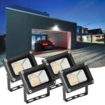 4pcs 10W LED Flood Light Warm White Outdoor Lighting Landscape Spotlight