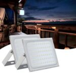2pcs Ultraslim 500W LED Floodlight Outdoor Security Lights 110V Cool white