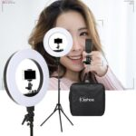 LED Ring Lamp for Photo Studio Lighting with Tabletop Tripod Stand Holder