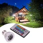E27 RGB LED Spot Lamp Bulb 85-265V 16 Colors Spotlight w/ Remote Controller