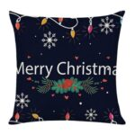 Merry Christmas Pattern Linen Pillowcase Sofa Throw Pillow Case Cover (6)