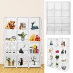 Cube Storage 12-Cube Book Shelf Storage Shelves Closet Organizer Shelf Cubes Organizer Bookcase-0228