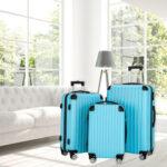 Luggage 3 Piece Set Suitcase Spinner Hardshell Lightweight TSA Lock Blue-49637083