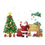 DIY Waterproof Xmas Wall Stickers Bedroom Decal Window Showcase Glass Decor