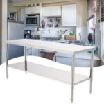 """72\\\"""" Stainless Steel Galvanized Work Table (without Back Board)-60135191"""
