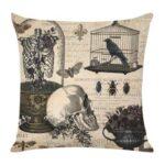 Retro Pattern Linen Pillowcase Soft Throw Pillow Case Sofa Car Cushion (4)