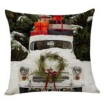 Flowers Printed Xmas Pillow Case Sofa Cushion Cover Home Party Decor (B)