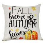 Pumpkin Square Pillow Case Cushion Cover Pillowslip Halloween Decor (4)