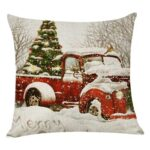 Pillow Cover Xmas Car Printed Sofa Cushion Case Christmas Home Party Decor