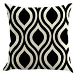 Geometric Printed Pillowcases Sofa Car Bedroom Linen Throw Pillow Cover (F)