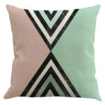 Nordic Printing Pillow Cases Sofa Car Bedroom Linen Throw Pillow Cover (G)