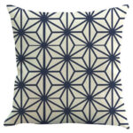 Geometric Print Pillow Cushion Cover Linen Sofa Home Decor Pillowcase (H)