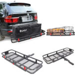 Hitch Mounted Folding Cargo Carrier Car SUV Truck Basket Luggage Durable 500lbs-53072237