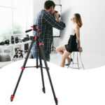 Zomei T80 Portable Tripod with Phone Clip and Bluetooth Remote Control Black Red-70416320