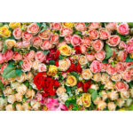Flowers Background Cloth Backdrop Home Decor Photography Props (1.5×2.1m)