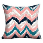 Geometric Print Pillow Cases Sofa Bedroom Peach Skin Throw Pillow Cover (F)