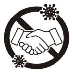 Prohibition Handshake Publicity Wall Sticker Virus Prevention Warning Decal