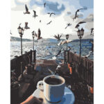 Hand Painted Artwork Frameless DIY Seaside Bird Painting By Numbers Kit