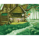 Hand Painted Artwork Frameless DIY Rabbit House Painting By Numbers Craft