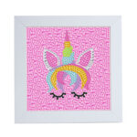 Special Shaped DIY Diamond Painting Pink Horse Embroidery Set with Frame