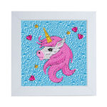 Special Shaped DIY Diamond Painting Beauty Pink Horse Embroidery with Frame