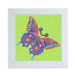 Special Shaped DIY Diamond Painting Butterfly Full Drill Embroidery w/Frame