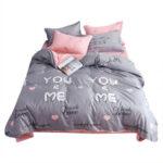 3pcs 1.2m Simple Bedding Set Quilt Duvet Cover Sheet Pillowcase (D Arrow)