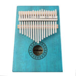 17 Keys Mahogany Kalimba Thumb Piano Mbira Body Musical Instrument (Blue)