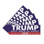 5pcs 220x70mm Car Stickers TRUMP KEEP AMERICA GREAT 2020 PVC Auto Decals