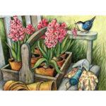 Full Round Drill 5D DIY Diamond Painting Flower Embroidery Art Kit (LG164)