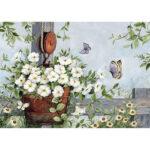 5D DIY Diamond Painting Flower Vase Full Round Drill Embroidery Kit (LG157)