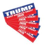 5pcs TRUMP KEEP AMERICA GREAT 2020 Car Stickers Auto Vinyl Decals Graphics