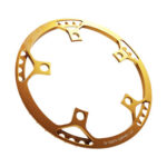 45T 130 BCD Round Chainring Aluminum Folding Bike Bicycle Parts (Yellow)