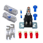 12V 500A Dual Battery Isolator Relay + 80A Mini ANL Fuses + 60A Fuse Holder
