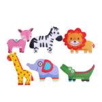 6 in 1 Iron Box Cartoon Wooden Puzzle Baby Children Montessori Toy (Animal)