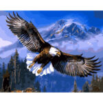 Eagle Mountain Painting By Numbers Kit DIY Canvas Oil Art Home Wall Picture