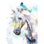 5D DIY Full Drill Diamond Painting Novelty Horse Cross Stitch Decor (B1014)