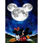 No Frame Canvas Print Painting Cartoon Mouse Moon Wall Art Picture Poster