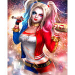 No Frame Canvas Print Paint Clown Girl Living Room Wall Art Picture Poster