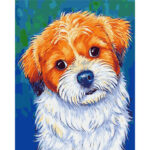 DIY Watching Dog Oil Painting By Numbers Kits Wall Decor Picture On Canvas
