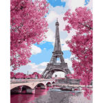 Eiffel Tower DIY Oil Painting By Numbers Kits Coloring Drawing Home Decor