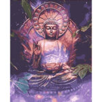 Buddha DIY Oil Painting By Number Kit Picture Home Decor Drawing On Canvas