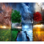 40x50cm Four Seasons DIY Oil Painting By Numbers Acrylic Paints On Canvas